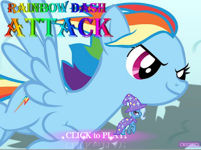 [SWF] Rainbow Dash Attack (juego flash)+yapa