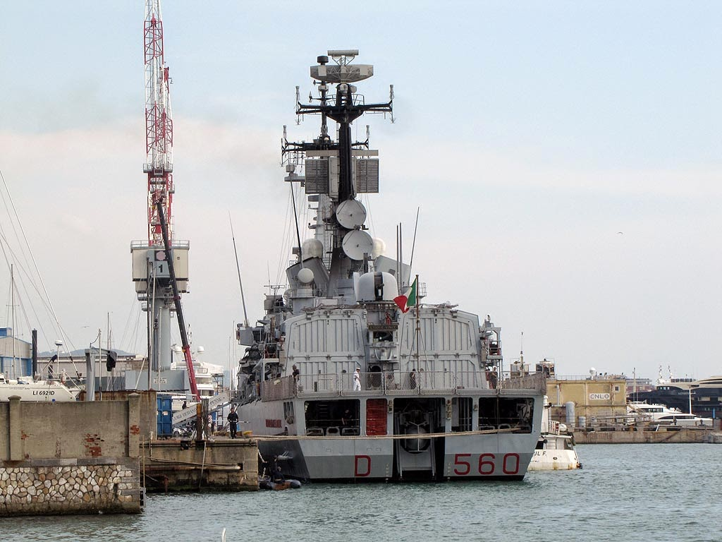 D 560 Luigi Durand de la Penne destroyer, port of Livorno