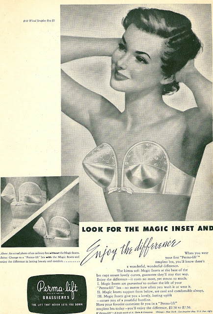 1950s bullet bra advertisment Just Peachy, Darling