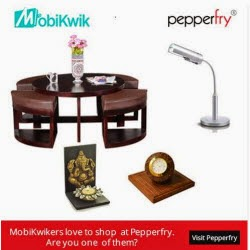 Pepperfry: Buy Pepperfry Rs. 50 Cashback on Rs. 199 when shop from Mobikwik Wallet