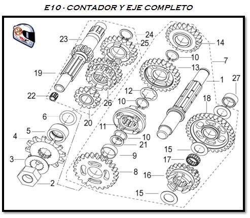 despieces keeway rkv 125 cc   u0026 39 e10