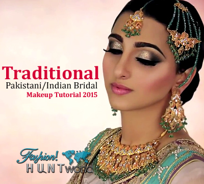 traditional pakistani and indian bridal makeup tutorial   ivory smokey