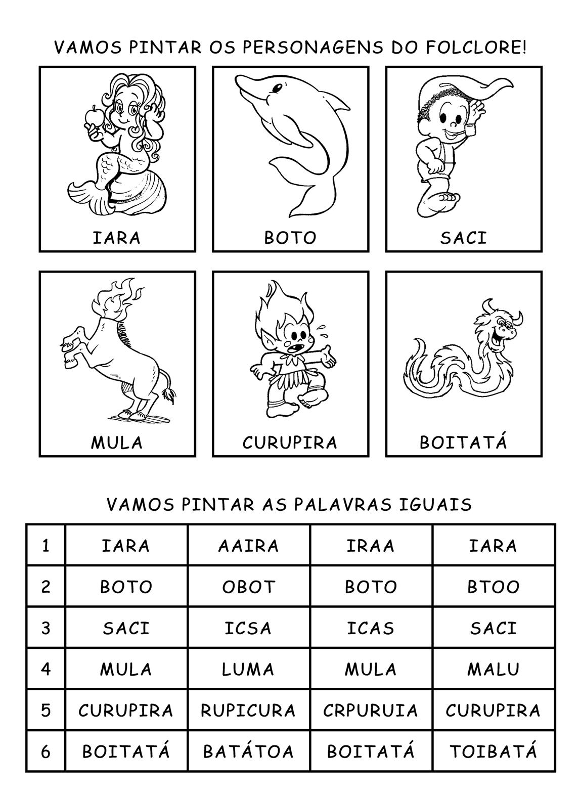 Desenhos Para Colorir Folclore Turma Da M  Nica