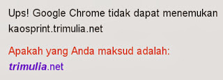 Google Chrome tidak dapat menemukan