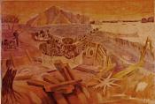 Trận địa anh hùng Đặng Bá Hát (Lụa 120x80)