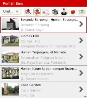 Aplikasi BlackBerry, Aplikasi Jual Beli Rumah, Rumah.com,