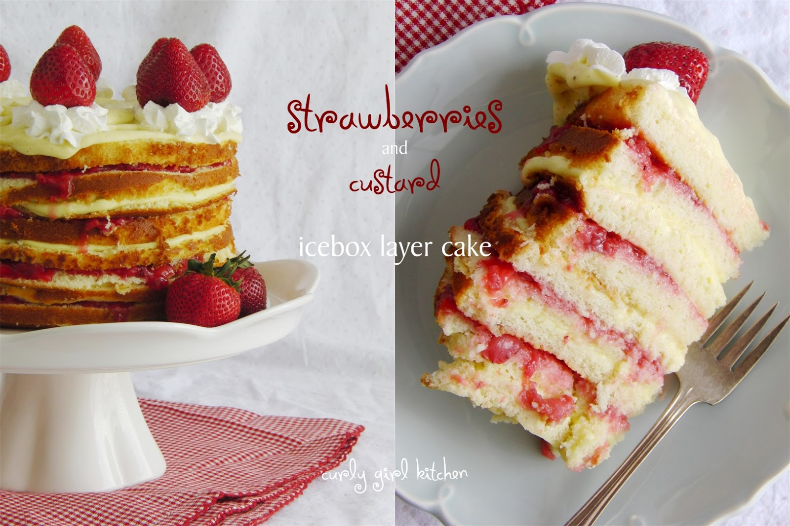 Curly Girl Kitchen Strawberries And Custard Icebox Cake And Rhubarb