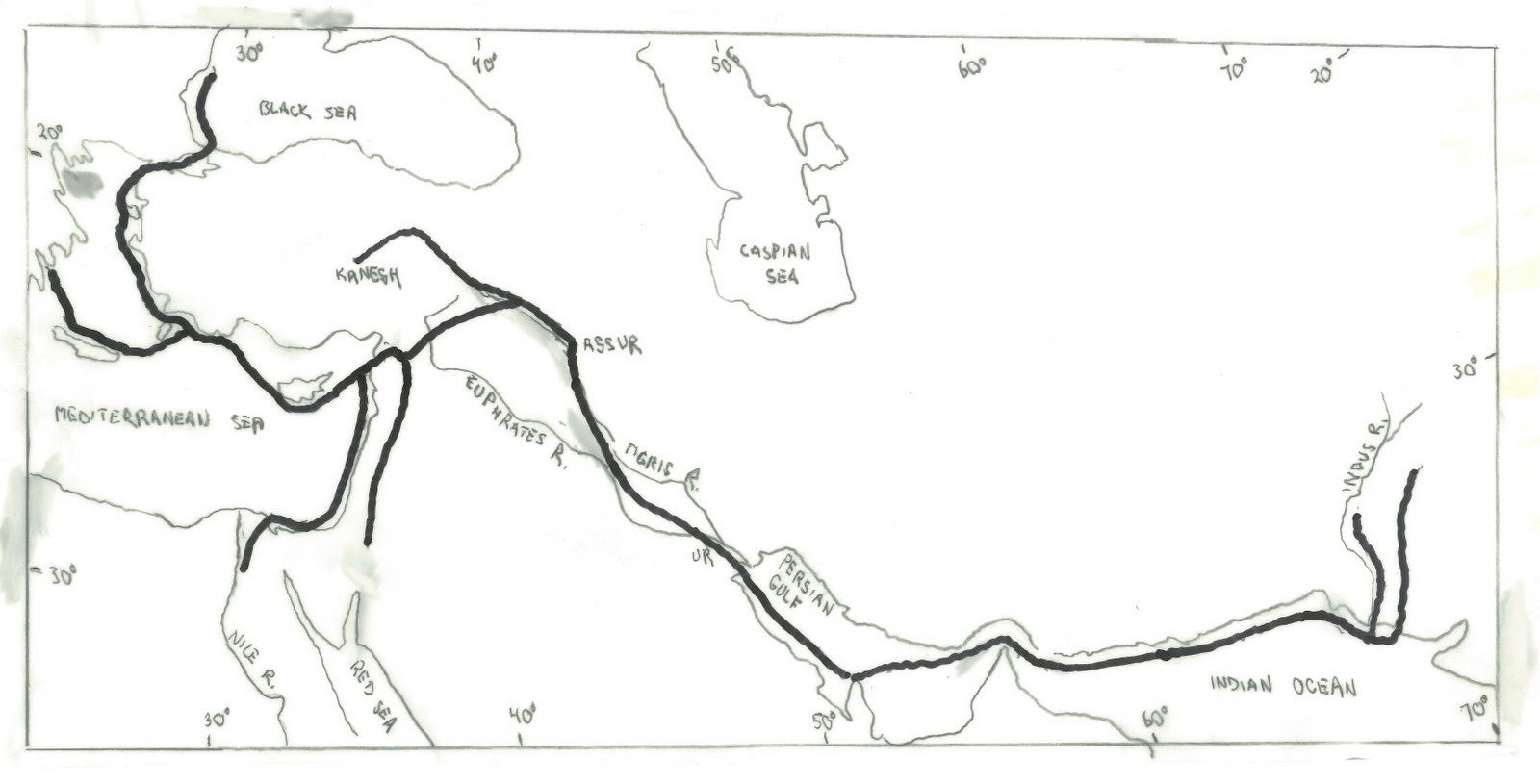 Dynamics of trade in the ancient mesopotamian world system