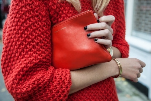 STREET STYLE + COLLAGE: RED