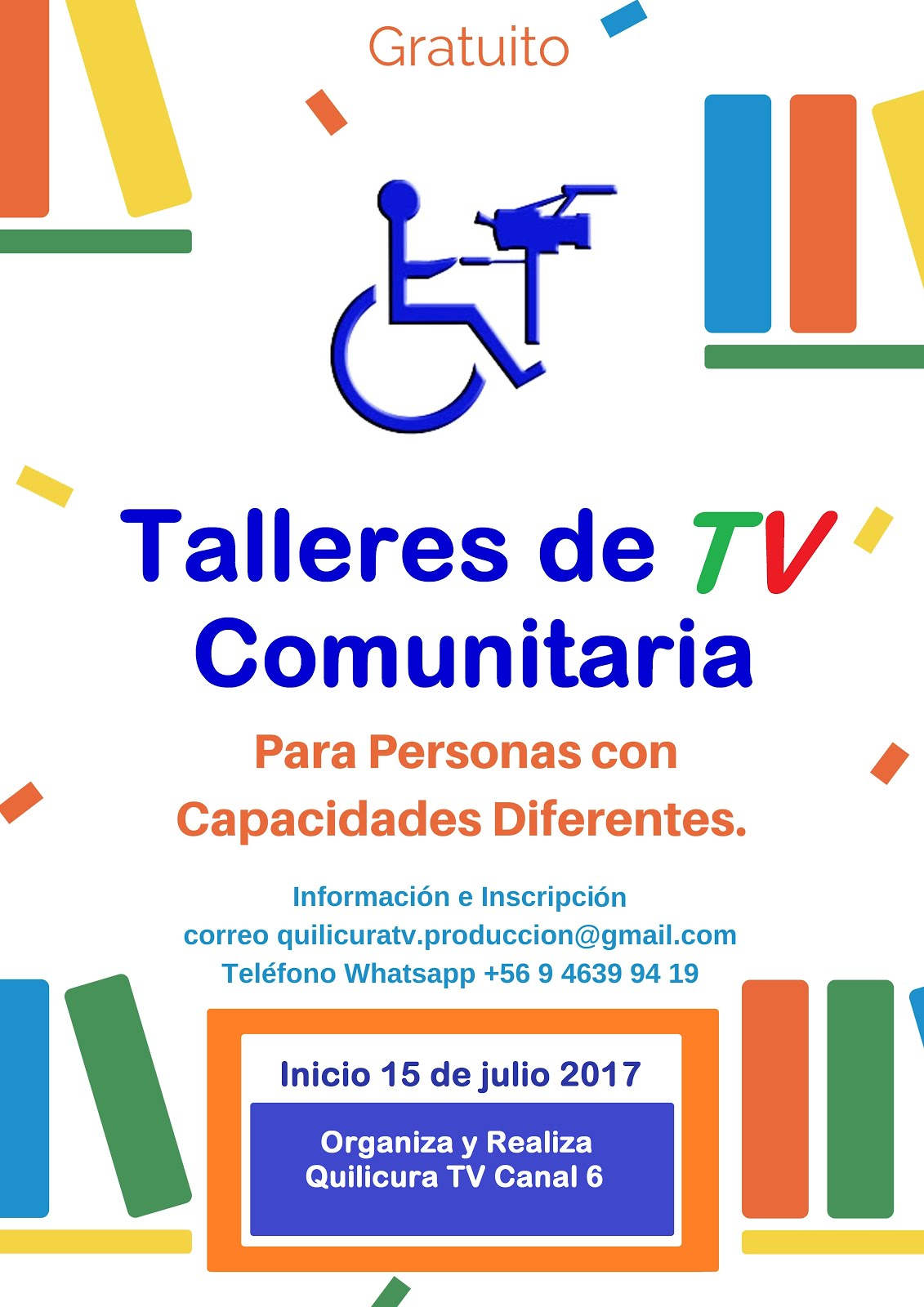 TALLERES INCLUSIVOS DE TV PARA PERSONAS CON DISCAPACIDAD