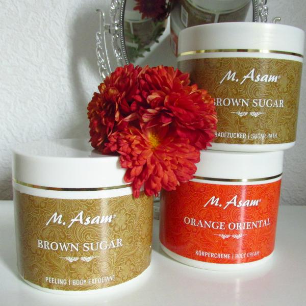 M.Asam Orange Oriental Body Cream & Brown Sugar Badezucker und Peeling / Review