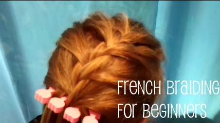 how to make a french braid on your own hair