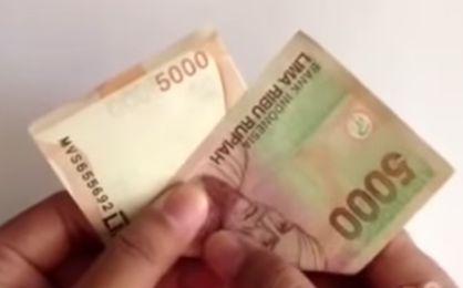 Gambar melipat bunga uang