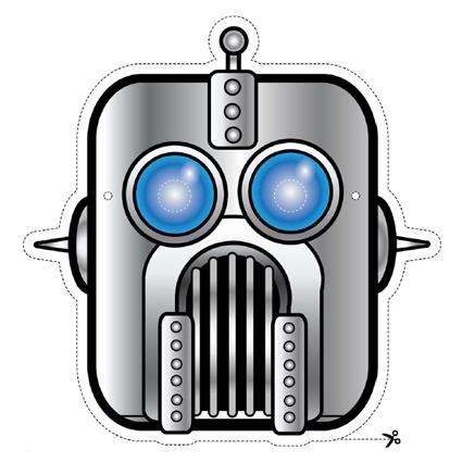 gray robot mask to print masks for children