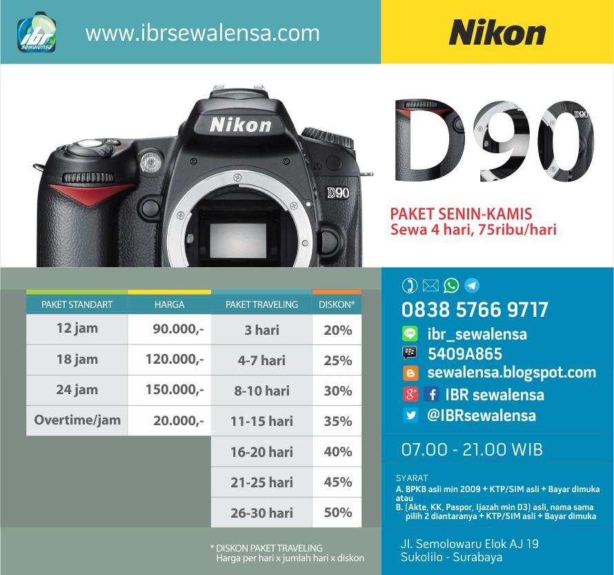 Sewa kamera Rental Kamera Nikon D90