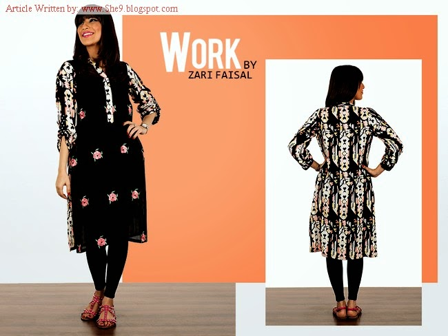 Work by Zari Faisal Winter Dress Collection