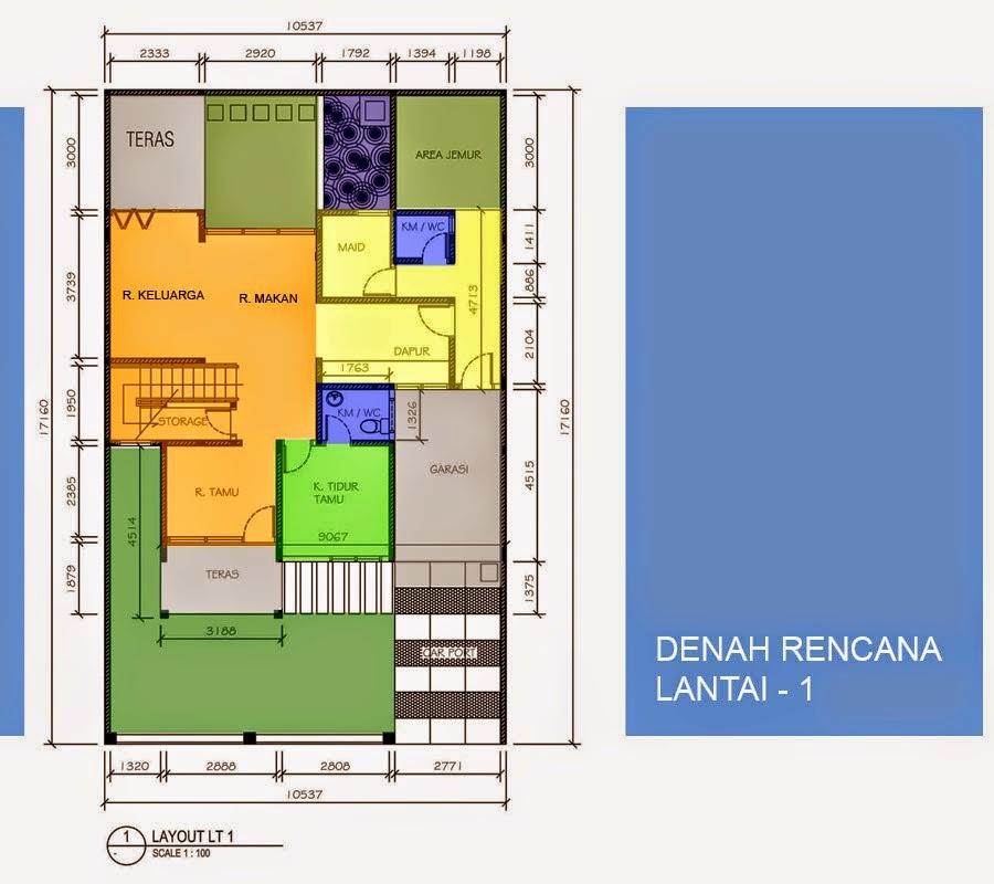 gambar denah rumah minimalis modern 1 lantai terbaru 2015