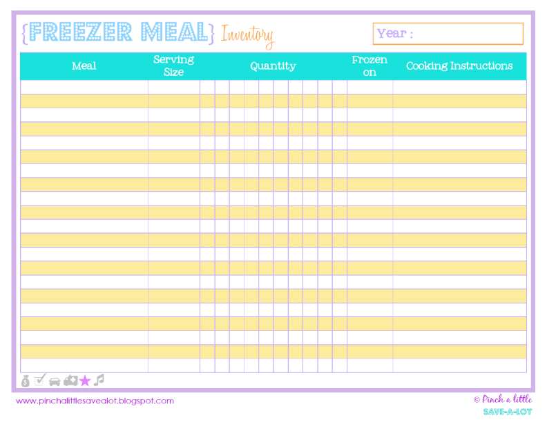 Pinch A Little Save-A-Lot: Free Pantry & Freezer Inventory List