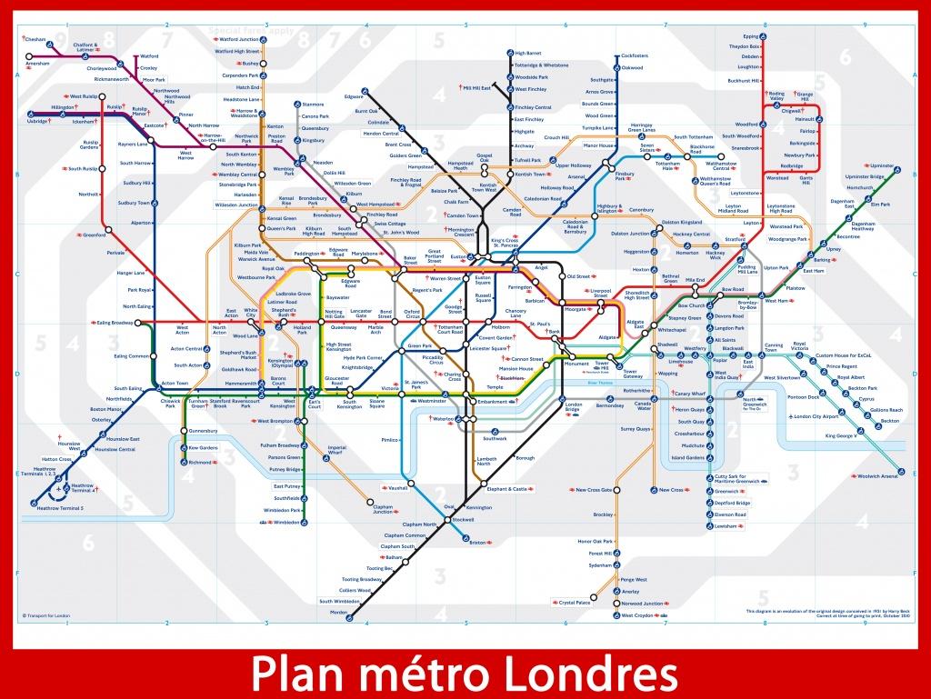 Plan m tro londres zones 1 et 2 for Zone plan