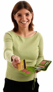 Woman with Credit Card - Source: KanPay - State of Kansas
