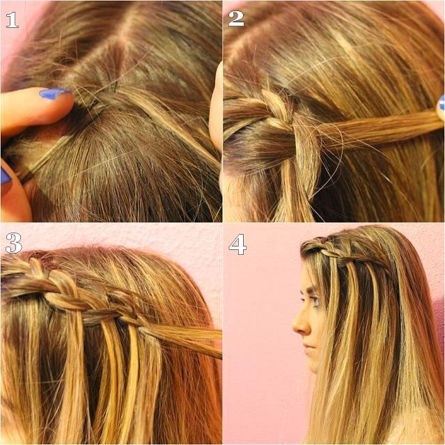 Como hacer una trenza en cascada paso a paso YouTube - Peinados Con Trenzas Cascada