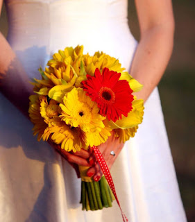yellow bridal flowers