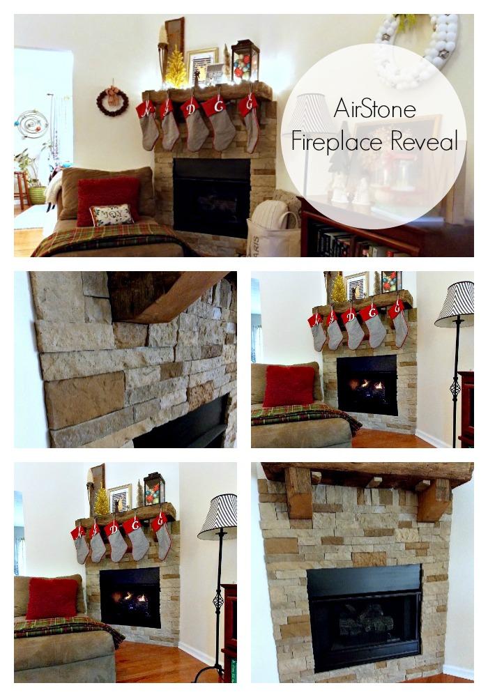 DIY Airstone Fireplace