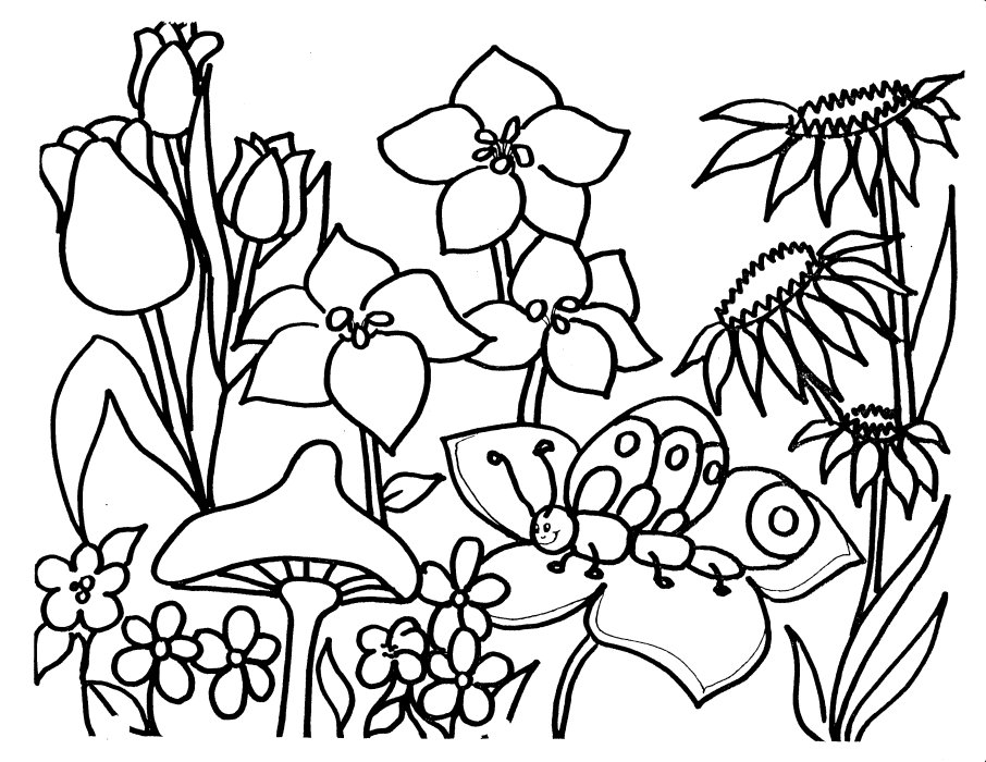 flower garden coloring page flower coloring page - Garden Coloring Pages 2