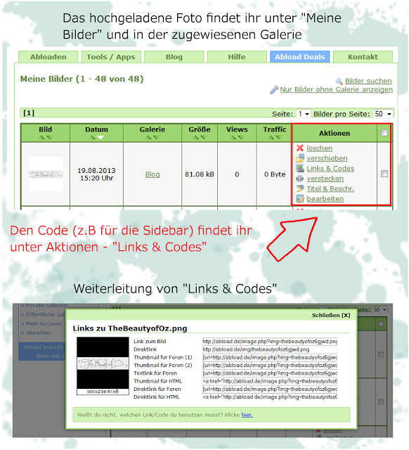FREE IMAGE HOSTING Abload.de - So findest du den Code