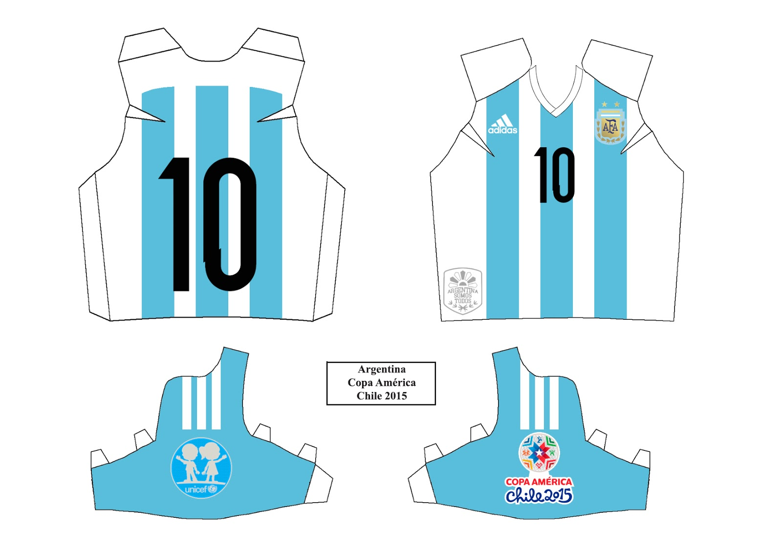 Camisas papel papercraft futebol for Papel de pared argentina