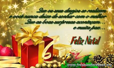 Frases e Mensagens de Natal para postar Facebook