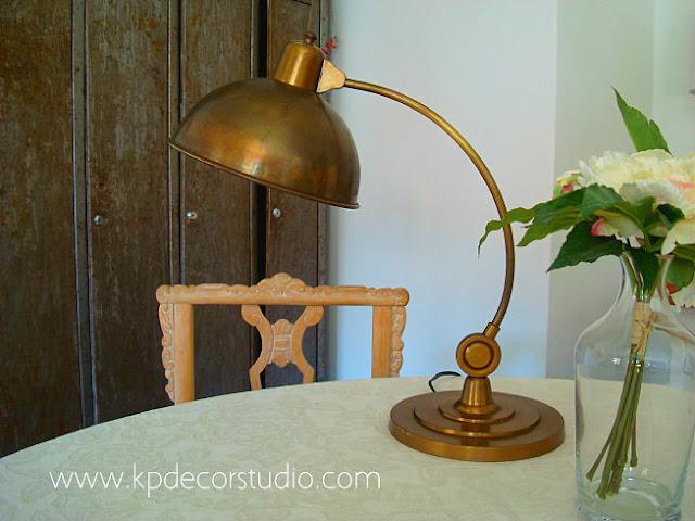 Comprar lámparas vintage de mesa, baratas, originales, antiguas de los años 20-30-40