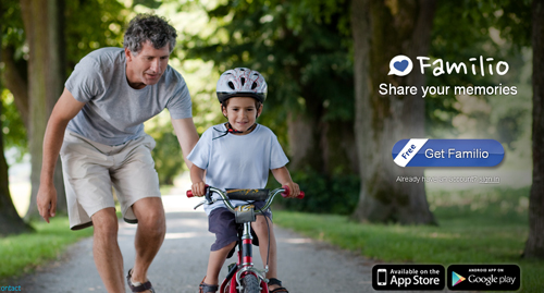 comparte tus fotos familiares Familio - www.dominioblogger.com