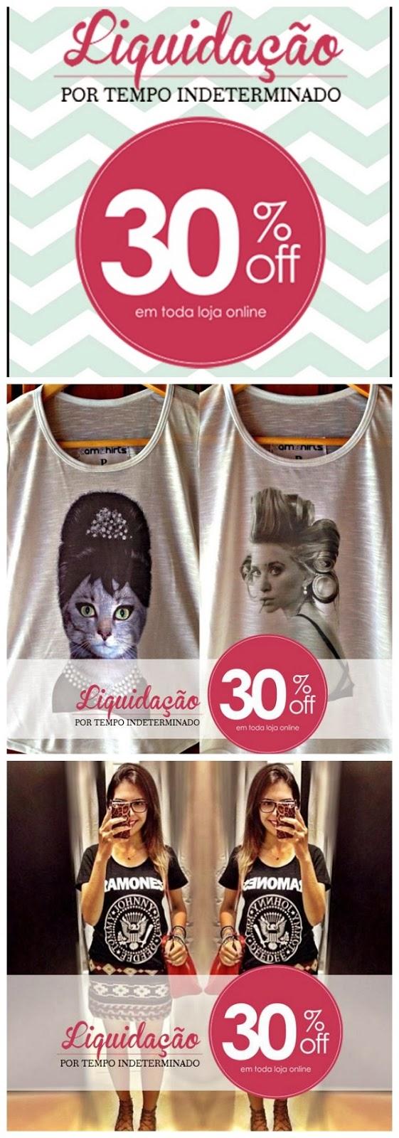 Liquidação t-shirts