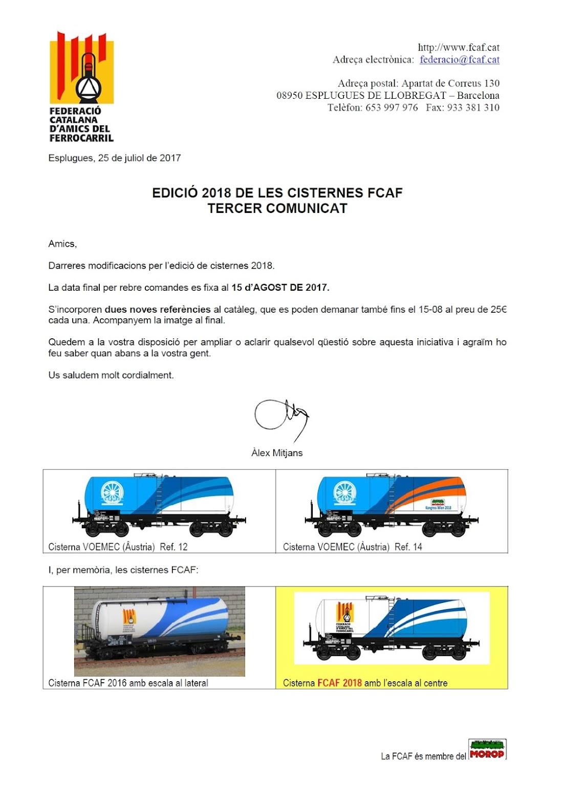 Vagons CISTERNA - FCAF