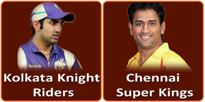 CSK Vs KKR is on 28 April 2013.
