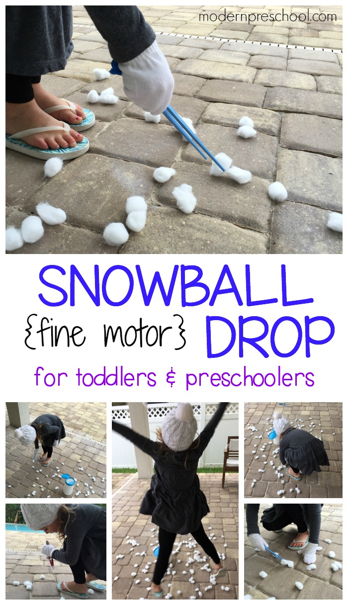 Snowball Fine Motor Busy Bag