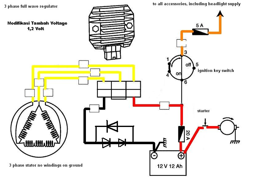 Solusi battery cara mudah modifikasi kiprok regulator pengisian modifikasi tambah tegangan 12 volt ccuart Image collections
