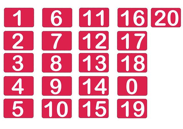 Numerais 0 a 20 - Joguinho Pedagógico
