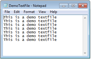How to Produce Text file in ASP.NET 4.6?