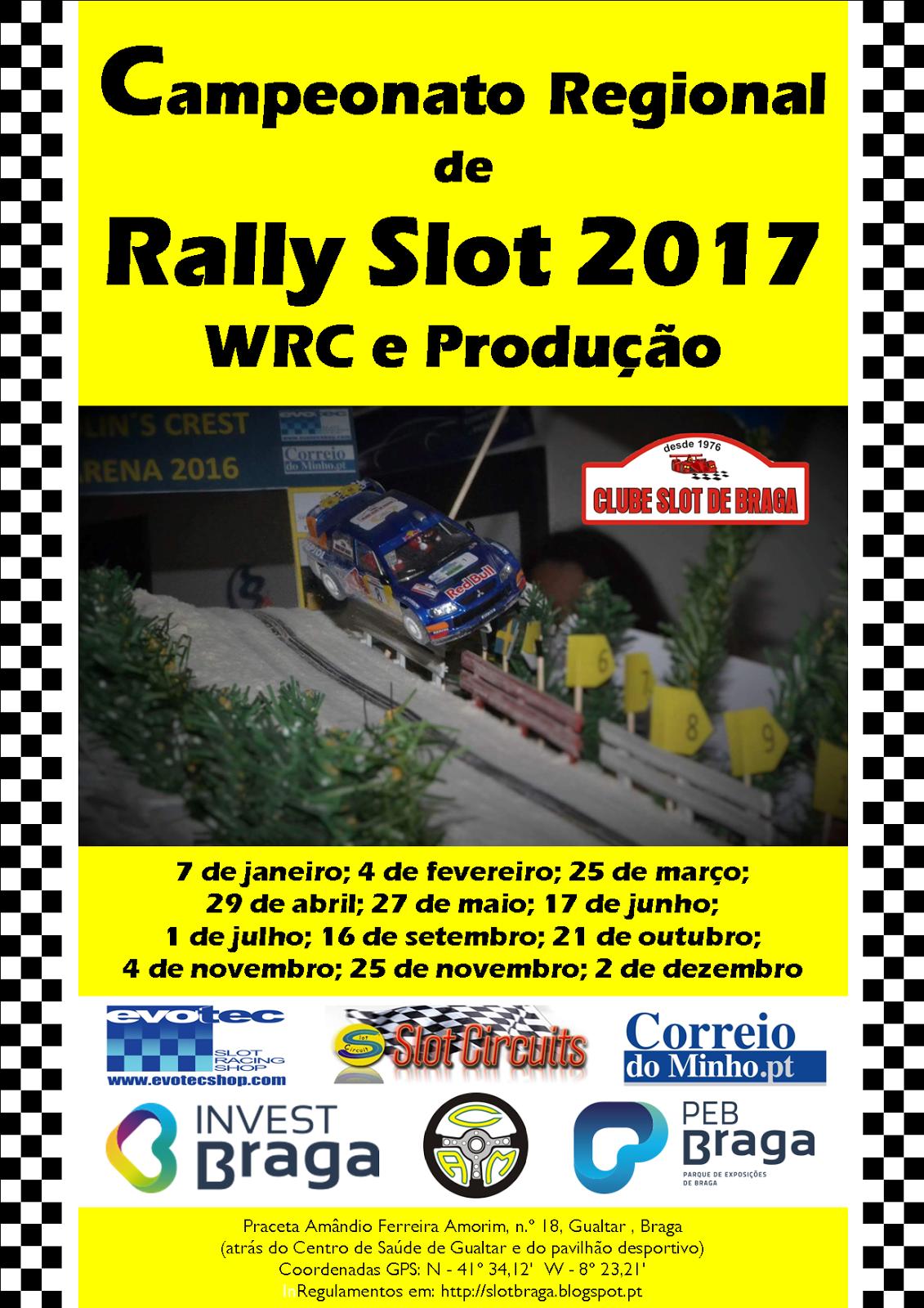10.ª Prova do Campeonato Regional de Rally Slot 2017
