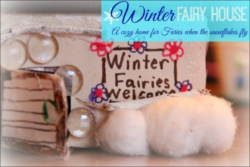 Winter Fairy Garden House #kids #craft