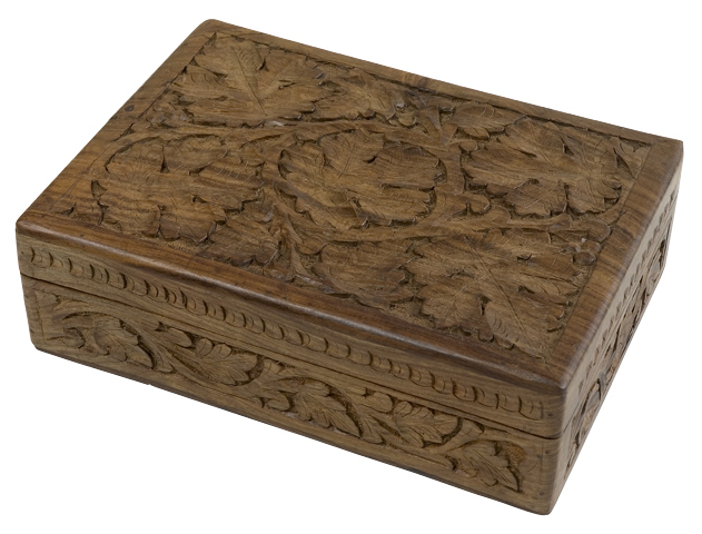 Shesham Wooden Box Carving India
