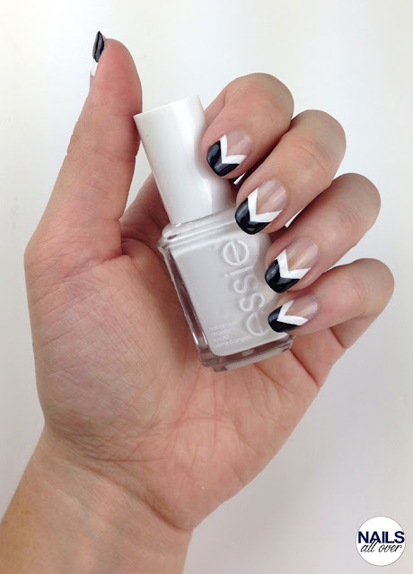 "Used: Essence Studio Nails 24/7 Nail Base -  Essie ""Blanc"" -  P2 Color Victim ""Eternal"" -  Seche Vite Dry Fast Top Coat"