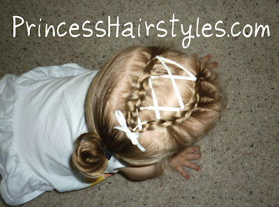 toddler hairstyle with ribbon