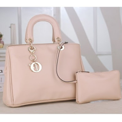 DIOR DESIGNER BAG (2 IN 1 SET) - CREAM