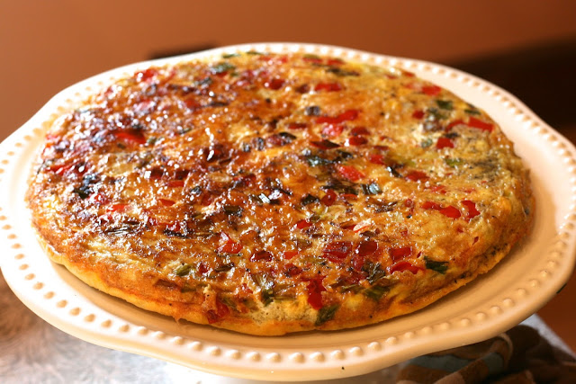 Frittata: Red Pepper & Onion