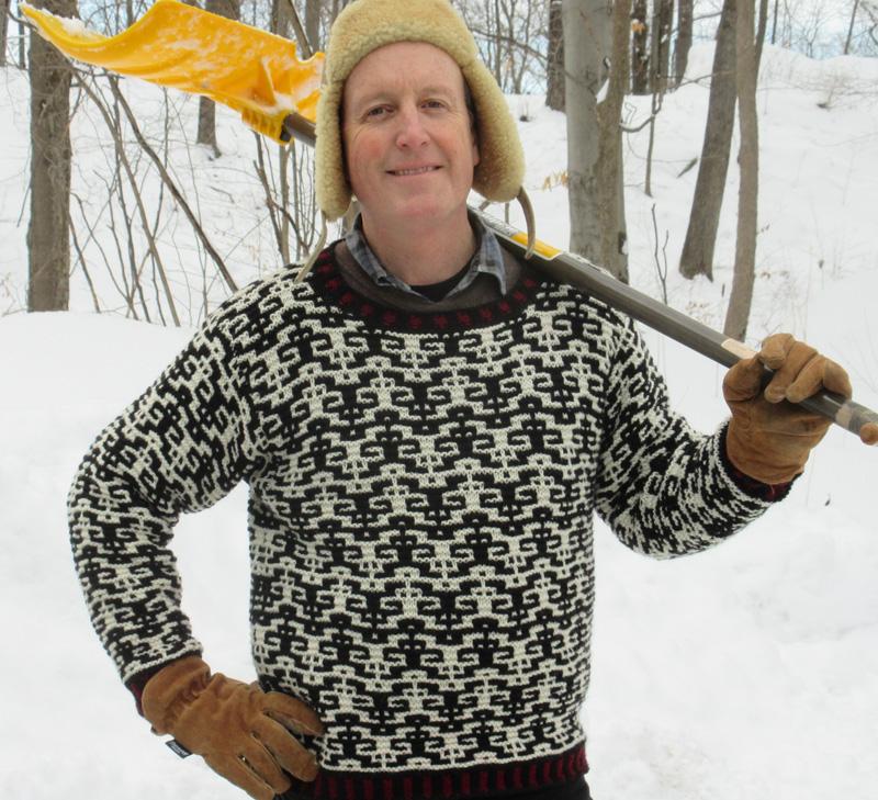 Knitting A Sweater On Straight Needles : Gurney journey mosaic imps sweater
