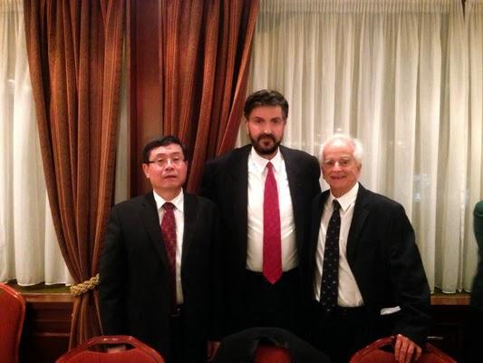 Με τον πρέσβη της Κίνας κ. Ντου Κιουίν και τον Εφοπλιστή κ. Ανδρέα Ποταμιάνο