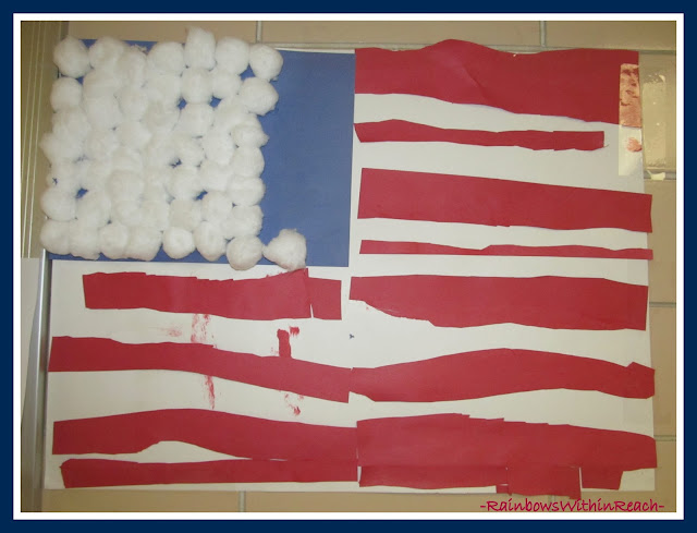 photo of: Kindergarten Project Based Learning American Flag via RainbowsWithinReach